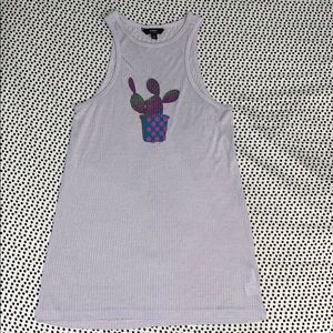 OBEY purple tank with cactus
